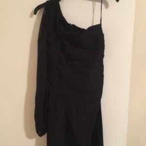 Single sleeved black dress.  Size 11