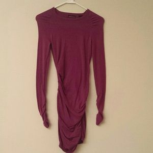 87bfc927a9 Victoria s Secret Dresses - Victoria s Secret Ruched Crewneck Drews -Lush  plum