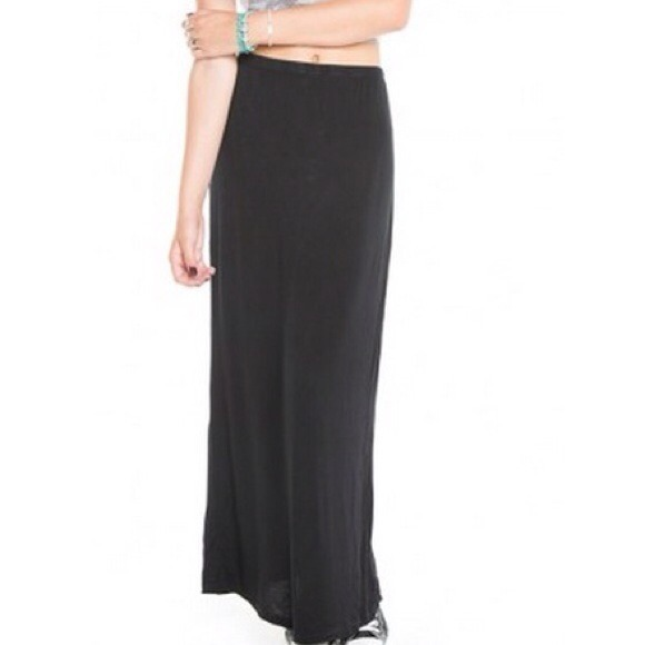 Long black cotton maxi skirt – Modern skirts blog for you