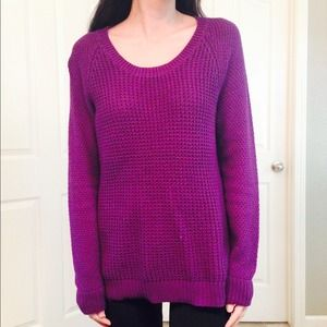 Chunky Knit Purple Sweater