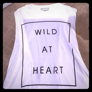 Wildfox Wild at Heart Muscle Tank