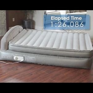 Aerobed air mattress queen bed headboard