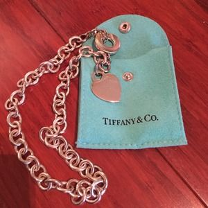 Authentic Tiffany & Co Silver Heart Tag Necklace
