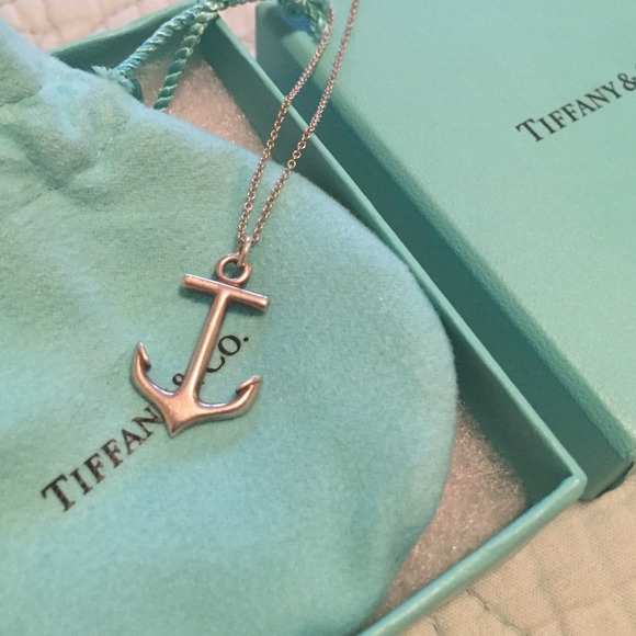 Tiffany & Co. Sterling Silver Anchor Necklace