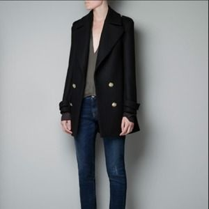 Zara Outerwear - ZARA SHORT MILITARY COAT | SIZE M