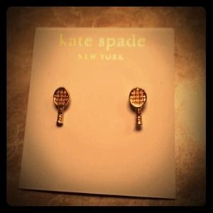 Kate Spade Gold Tennis Earrings NEW WITH TAGS