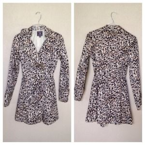 Forever 21 Leopard Trench Coat