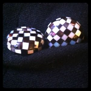 VINTAGE MOTHER OF PEARL CLIP ON