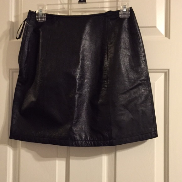 41 wilsons leather dresses skirts a line black