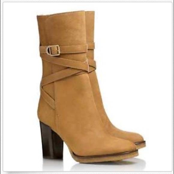 81aa8a365b78 Tory Burch Jaime Vicuna Strappy Suede Boots. M 547f62eb9da25907cc40e9d4