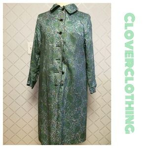 Vintage reversible Paisley Trench-coat 