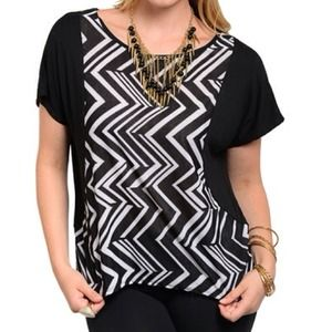 Chevron Hi-Low PLUS Top