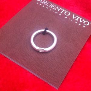 Argento Vivo Jewelry - NWT- Argento Vivo sterling silver ring w/ crystal