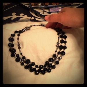 Black 3 layered necklace