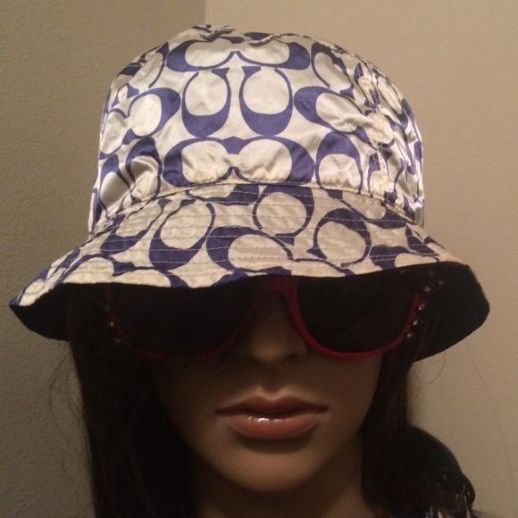 Coach Accessories - Coach reversible hat! rain resistant  silk hat! 9f29882b9c8