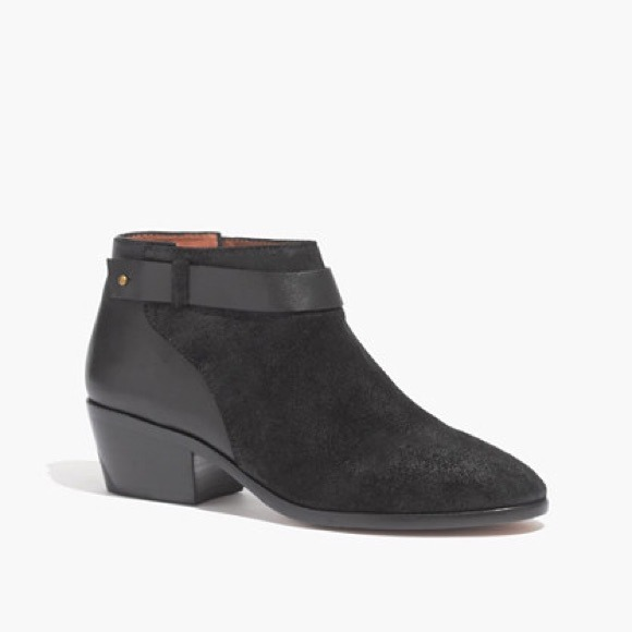 Madewell Shoes - Madewell Black Charley Collar-stud boot