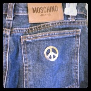 Moschino peace sign jeans