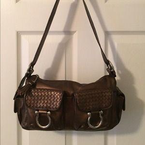 Perlina Handbags - 🛍 Perlina Metallic Leather Brown Shoulder Bags