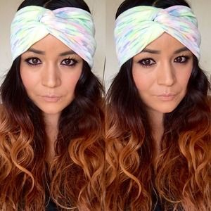 Faux turban in funfetti
