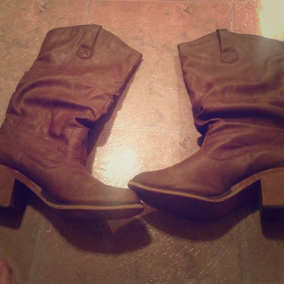 Belk Shoes Brown Boots Poshmark