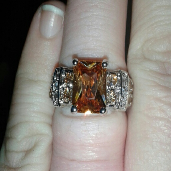 86 gold filled jewelry 10k white gold filled ring 7