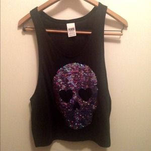 Victoria's Secret Skull Sequin Tank