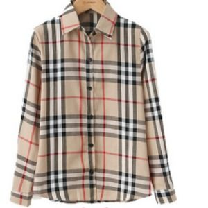 Tops - Plaid Burberry inspired button up shirt 7c115ccc3
