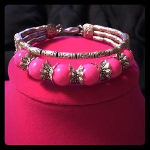 Jewelry - Cute Pink & Silver Bracelet