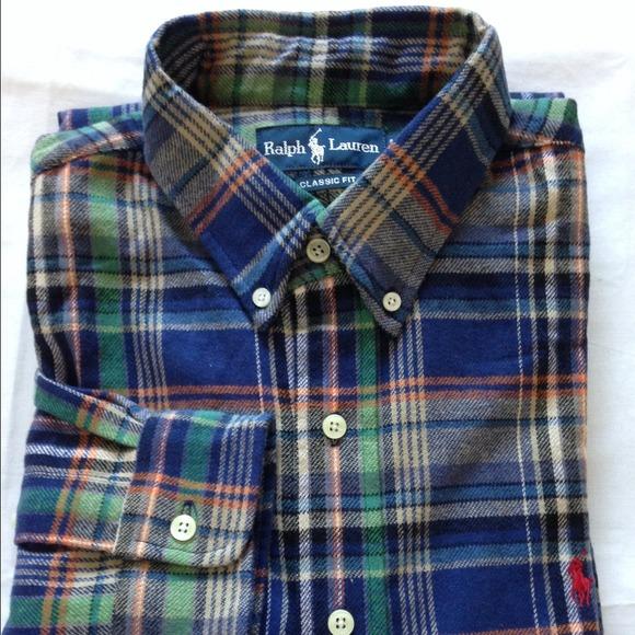 Men's Polo Ralph Lauren Flannel Shirt Sz XL