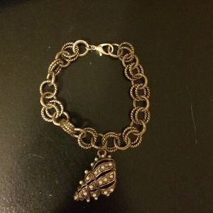 Antiqued gold looking bracelet