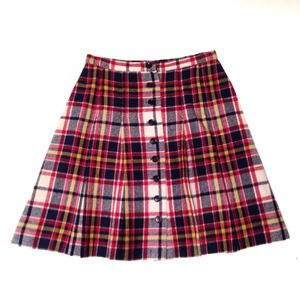 Vintage Plaid Mini Skirt XS S