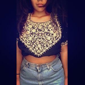 Indian piece crop top.