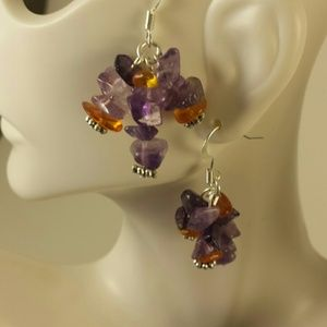 Beautiful natural stone earrings