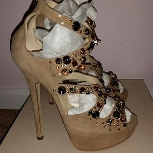 Jimmy Choo Shoes - Elaborate suede Jimmy Choo sandals