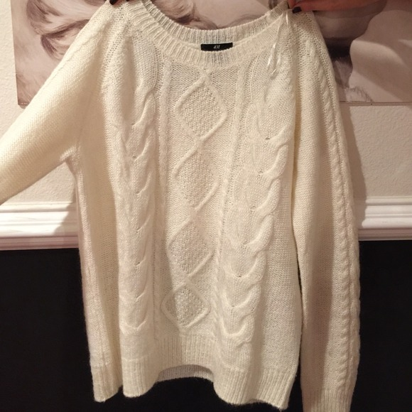 50% off H&M Sweaters - H&M White Sweater Top from ! saba's closet ...