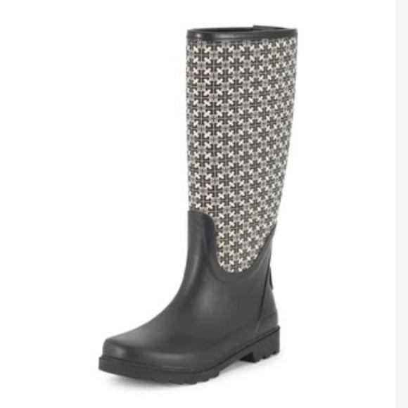 Sale Tory Burch Jacquard Rain Boots
