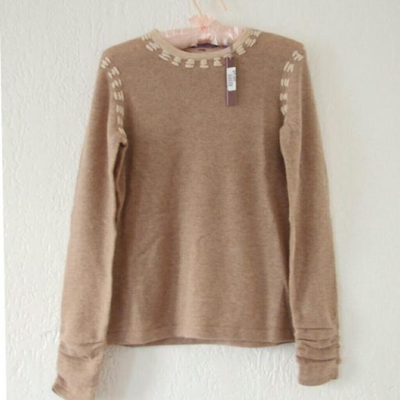19f95bea434 NEW Cashmere Cullen Pull Over Sweater Beige Tan