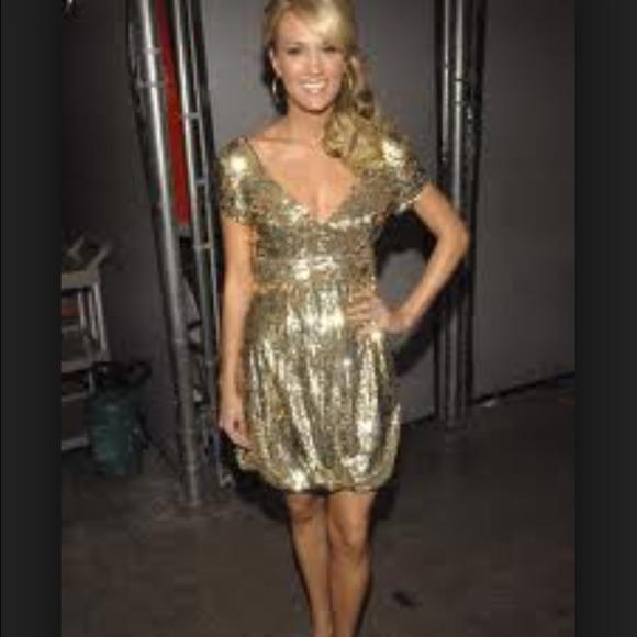 57% off Jovani Dresses & Skirts - Authentic jovani gold sequin ...