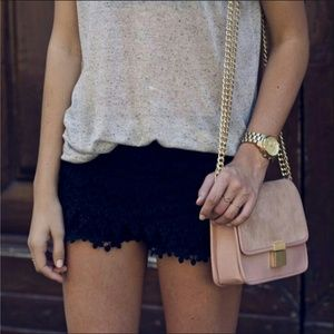 Zara Pants - Zara black crochet shorts!