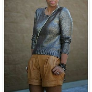 Sweaters - Bronze metallic sweater! Bloggers fav