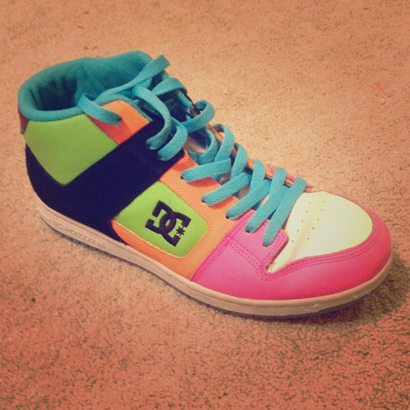 DC Shoes | Neon D And G Shoes | Poshmark