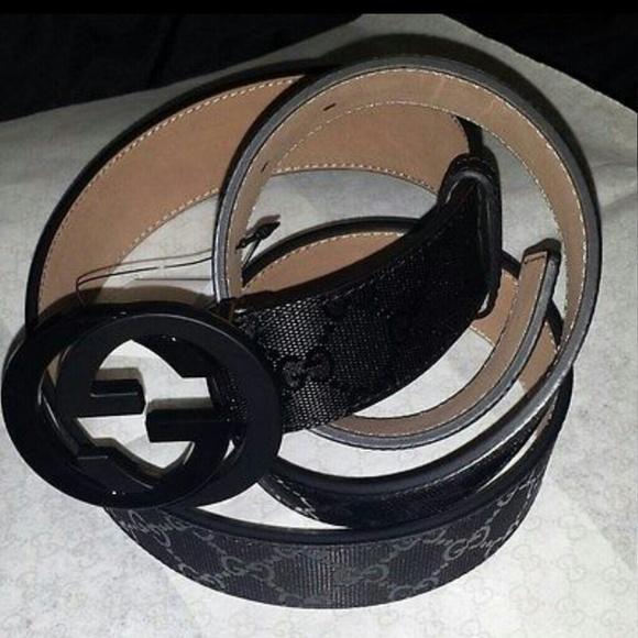 0061cbe92 Gucci Accessories | Gg Imprim Belt With Interlocking G Buckle | Poshmark