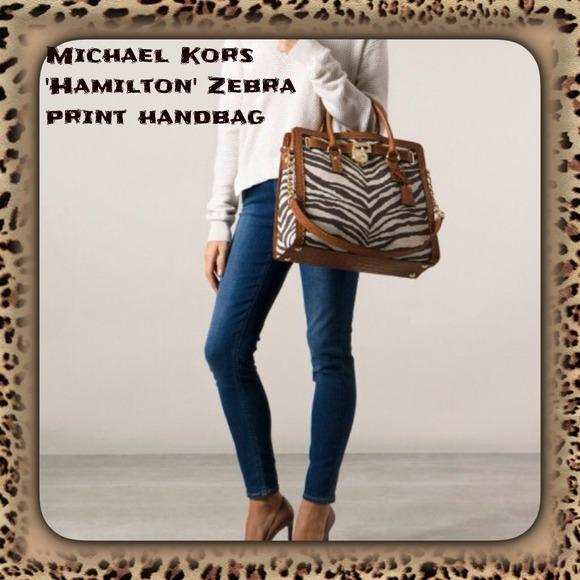 Michael kors bags hamilton zebra print handbag poshmark michael kors hamilton zebra print handbag reheart Image collections