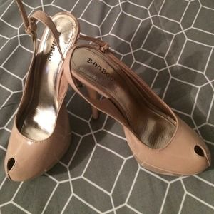 Heels. Nude. Size 7. Brand Bamboo.