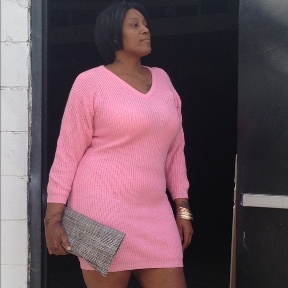 Dresses Plus Size Pink Maxi Sweater Dress Poshmark