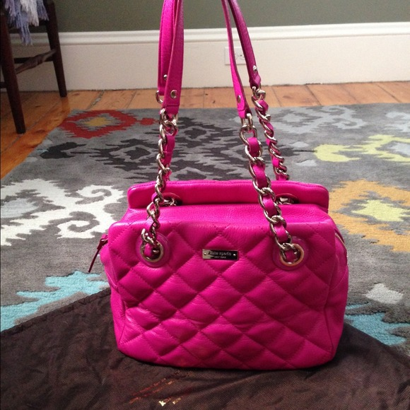 kate spade - Kate Spade hot pink quilted leather bag! from Lauren ... : kate spade red quilted bag - Adamdwight.com