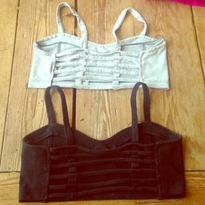 2 Brandy Melville Chiyo caged bralettes