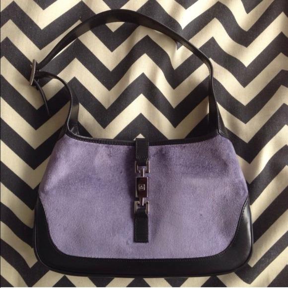 Gucci Bags   Vintage Velvet Leather Hobo Jackie O Handbag   Poshmark a2d6e0d72d