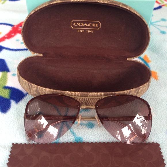 d134977e67c1 Coach Accessories   Jasmine Goldpink Crystal Sunglasses   Poshmark