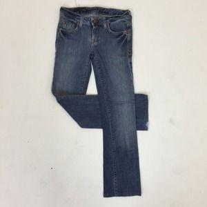Denim - Classic Straight Leg Blue Jeans